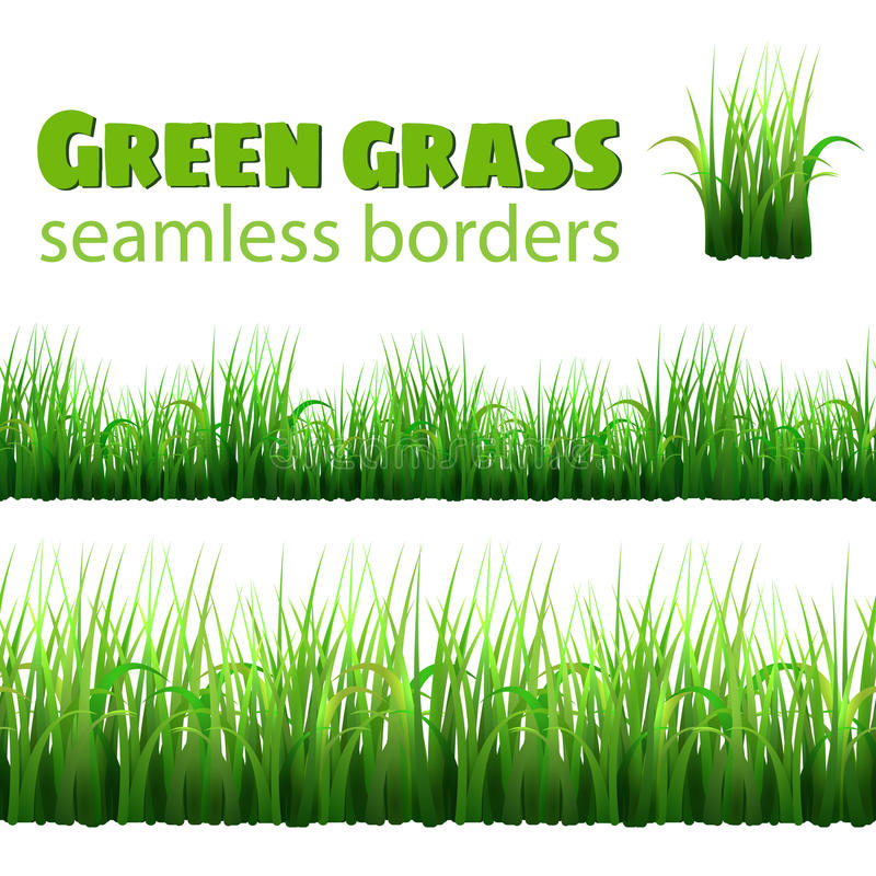 Sömlösa gränser för grönt gräs royaltyfri illustrationer