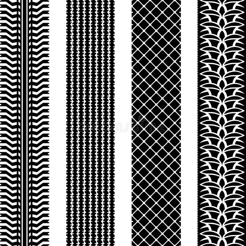 Sömlösa gummihjulspår stock illustrationer