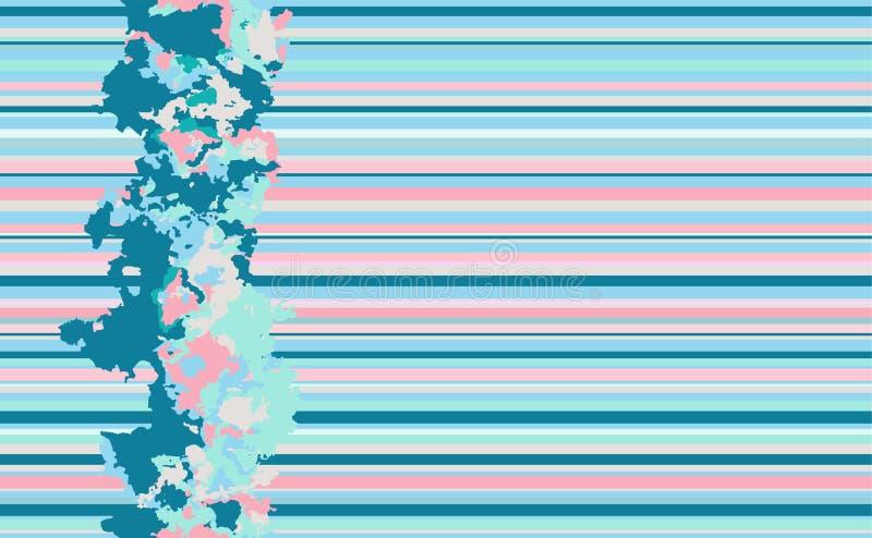 Sömlösa horisontallinjer modell Blå bakgrund för vektor stock illustrationer