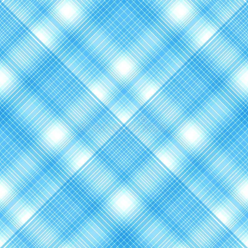 Sömlösa korsblåttfärger, rutig diagonal modell Vektor e royaltyfri illustrationer
