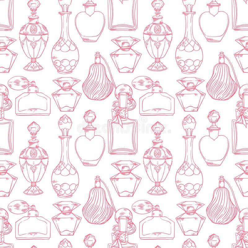 Sömlösa kvinnors doftflaskor vektor illustrationer