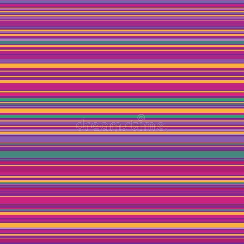 Sömlösa ljusa färgrika horisontallinjer bakgrund Abstrakt begrepp river av den sömlösa vektorillustrationen Modell för rengörings royaltyfri illustrationer