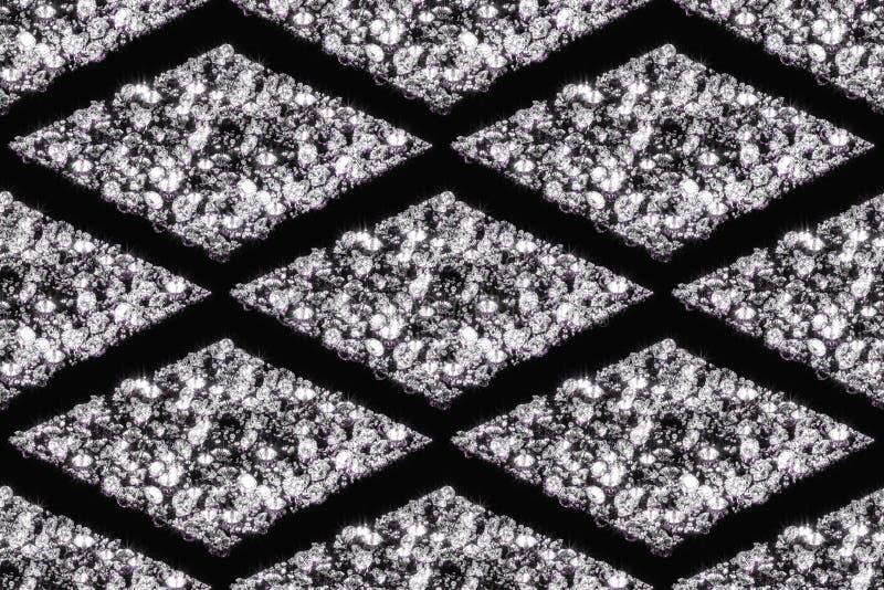 Sömlösa modeller av diamanter royaltyfri illustrationer