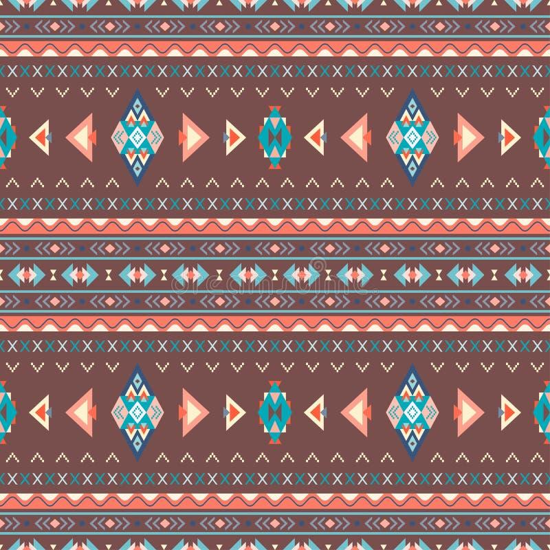 Sömlösa modeller för etnisk boho abstrakt prydnadtappning vektor stock illustrationer