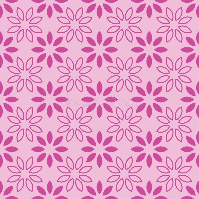 Sömlösa modellrosa färger och Rose Vector Illustration för blom- blad, royaltyfri illustrationer