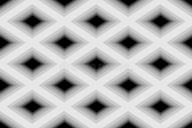 Sömlösa Polygonal monokromma Diamond Pattern geometrisk abstrakt bakgrund Passande för textil-, tyg-, förpacka och rengöringsdukd stock illustrationer