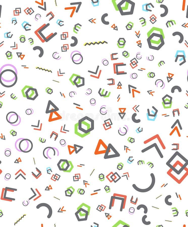 Sömlösa primitiva geometriska modeller Modern modell för moderiktiga hipsters vektor illustrationer