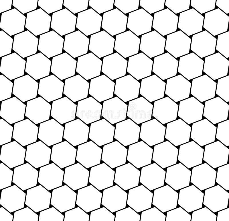 Sömlösa sexhörningar latticed textur stock illustrationer
