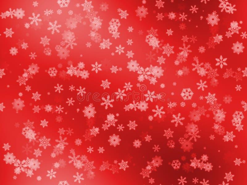 Sömlösa snöflingor mönstrar olikt stort och litet format på röd lutningbakgrund royaltyfria bilder