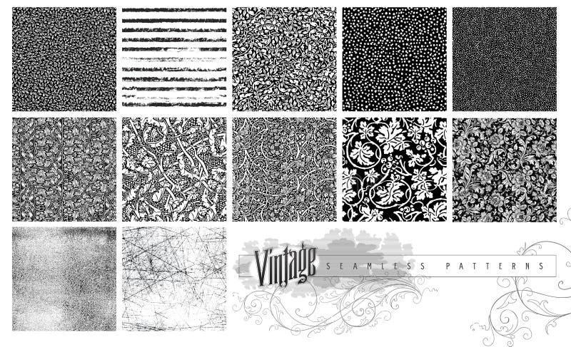 Sömlösa texturer och modeller vektor illustrationer