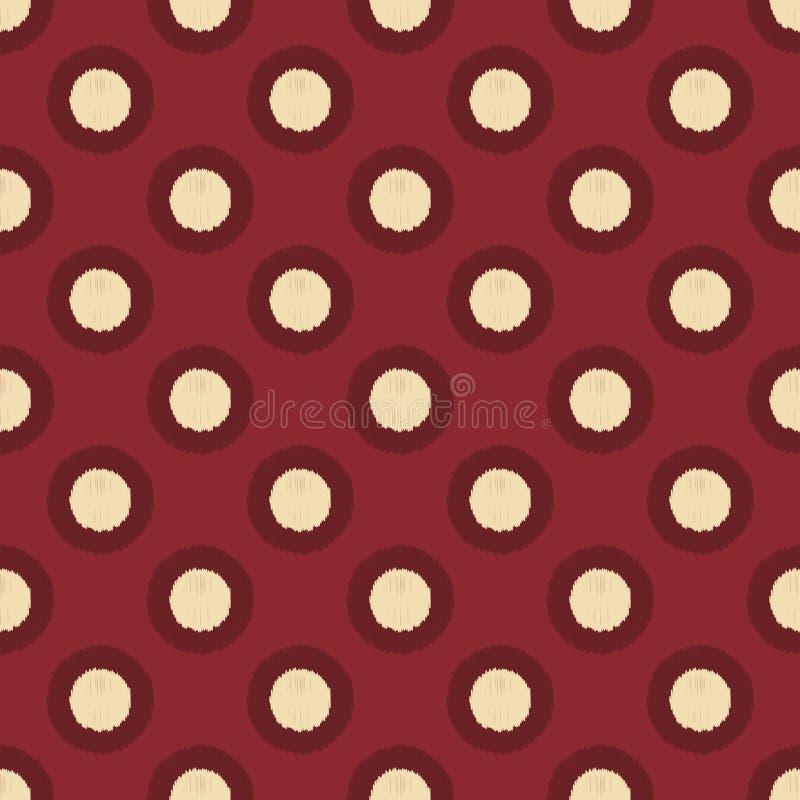 Sömlösa texturerad modell för cirkel prickar stock illustrationer