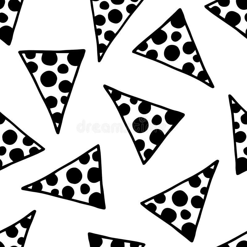 Sömlösa trianglar fyllda cirklar royaltyfri illustrationer