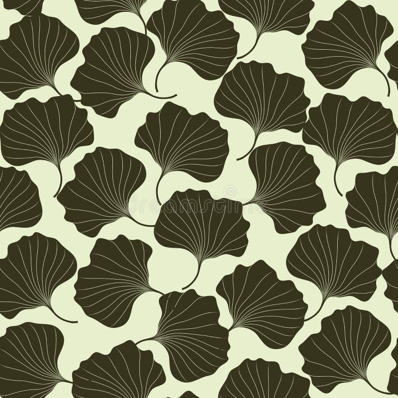 Sömlöst abstrakt begrepp för attraktion för vektormodellhanden blommar på ljus bakgrund Mall för tapeten, textil, bakgrunder vektor illustrationer