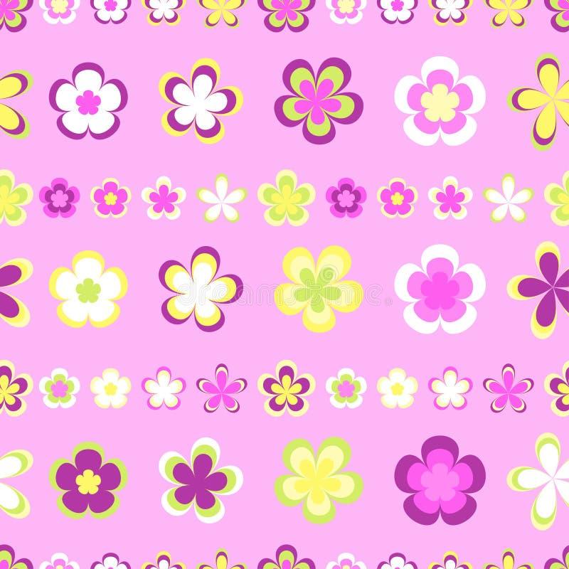 Sömlöst abstrakt begrepp gjord randig modell av gulliga rosa färger och brunt geometriskt stock illustrationer