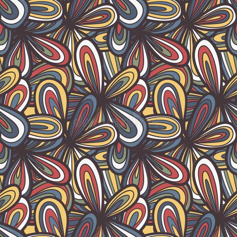 Sömlöst abstrakt begrepp hand-dragen textur royaltyfri illustrationer