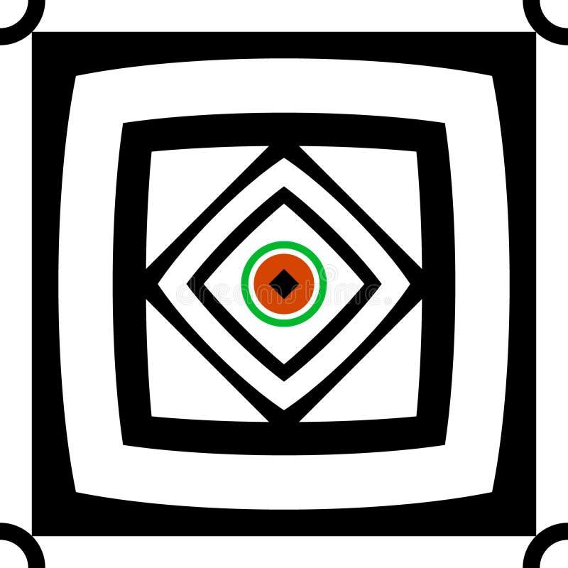 Sömlöst abstrakt begrepp kvadrerar bakgrund vektor illustrationer