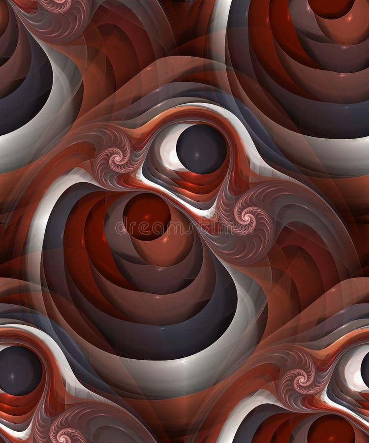 Sömlöst abstrakt modulobjekt med spiralen, tileable modell royaltyfri illustrationer
