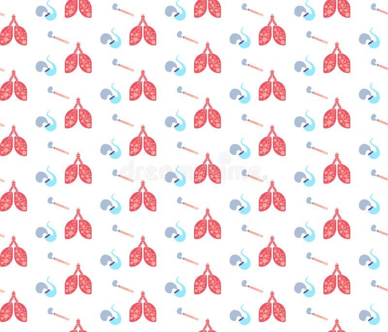 Sömlöst anatomiskt mänskligt begrepp för symbol för medicin för logo för medicinsk service för sjukvård för symbol för röka rör f stock illustrationer