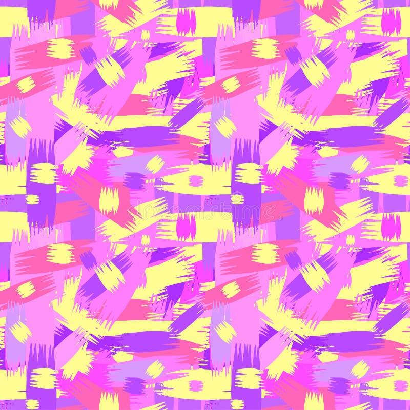 Sömlöst brushpen textur för grunge för textilklottermodellen vektor illustrationer
