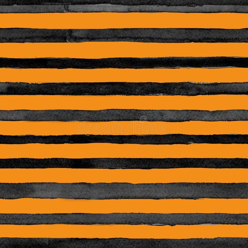 Sömlöst djurt tryck för vattenfärgmodell, tiger stock illustrationer