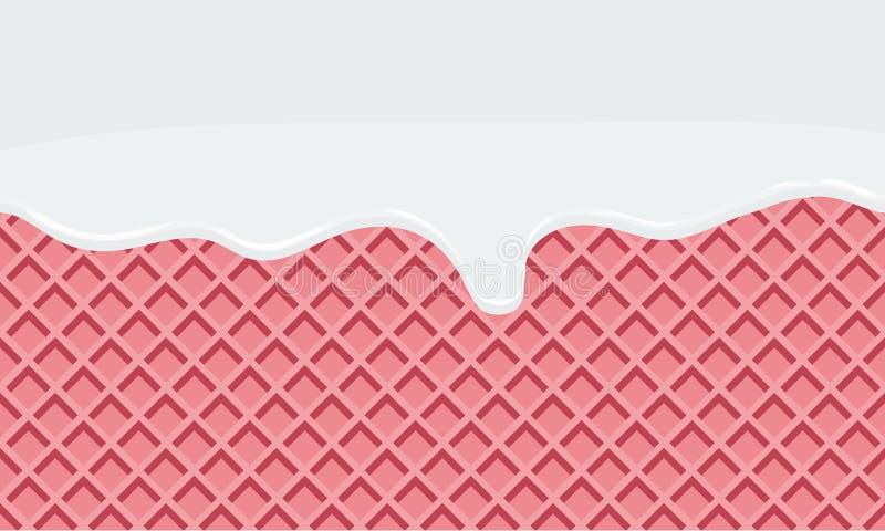 Sömlöst flöda mjölkar på bakgrund för mat för råntextur söt vektor illustrationer