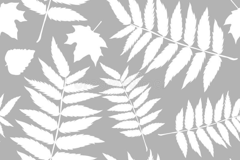 Sömlöst höstmodellark sidor av ormbunken Modell f?r tyget Ormbunketryck Trendhöstmodell Torkdukeskjortamodell vektor illustrationer
