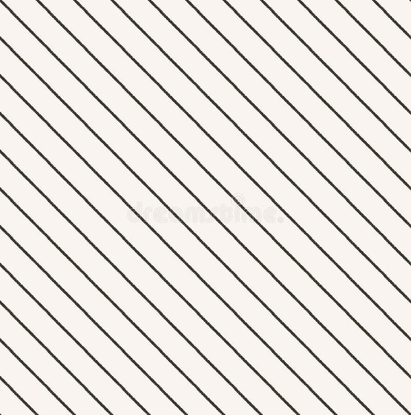 Sömlöst klottra den diagonala bandmodellen vektor illustrationer