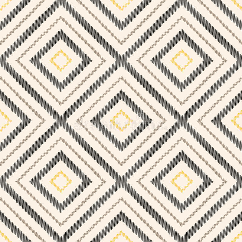 Sömlöst klottra den geometriska rombmodellen royaltyfri illustrationer