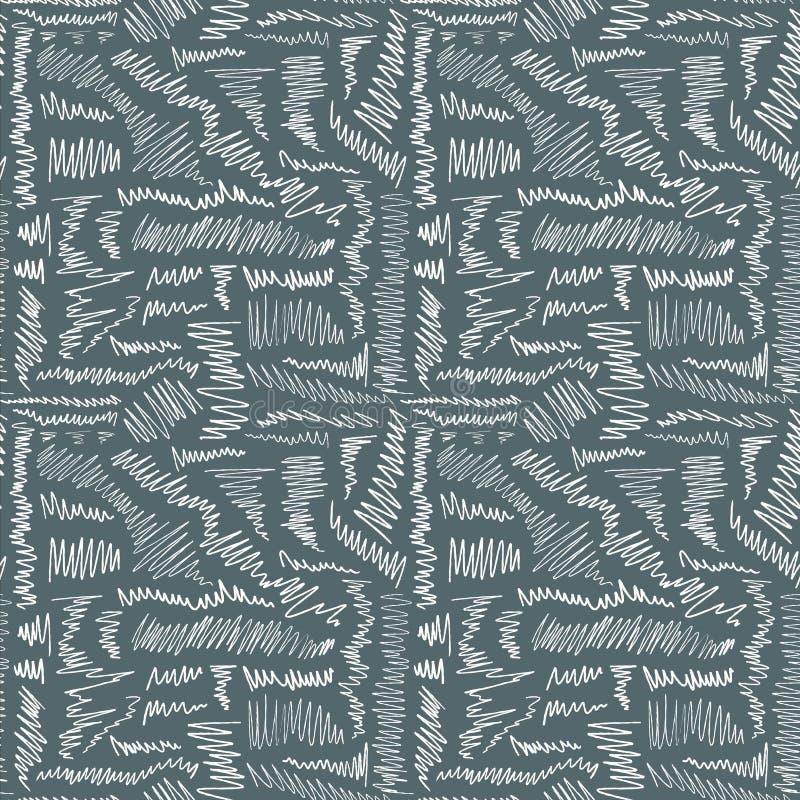 Sömlöst klottra textur stock illustrationer