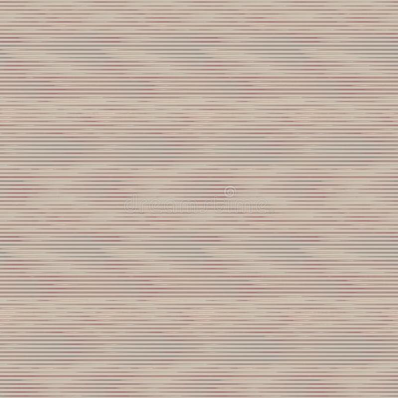 Sömlöst mönster för dragen vågrät rand Moderna linjer, handdragna med bruna, grå och ekru neutrala toner Allt över utskrift royaltyfri illustrationer