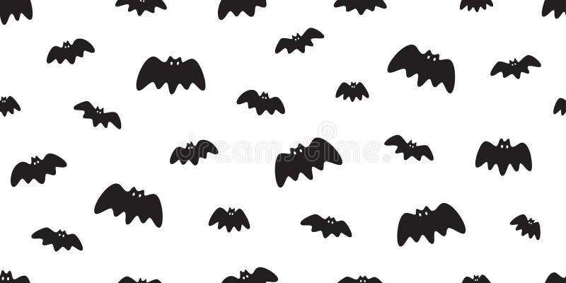 Sömlöst mönster Halloween dracula Vampire spökteckning illustration: vit design royaltyfri illustrationer