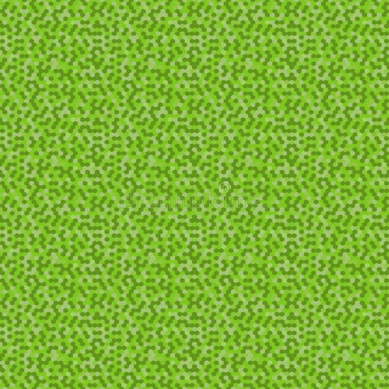 Sömlöst patern för mosaisk sexhörningsvektor Geometrisk grön bakgrund för abstrakt mosaik vektor för digitalt för familj för kons vektor illustrationer
