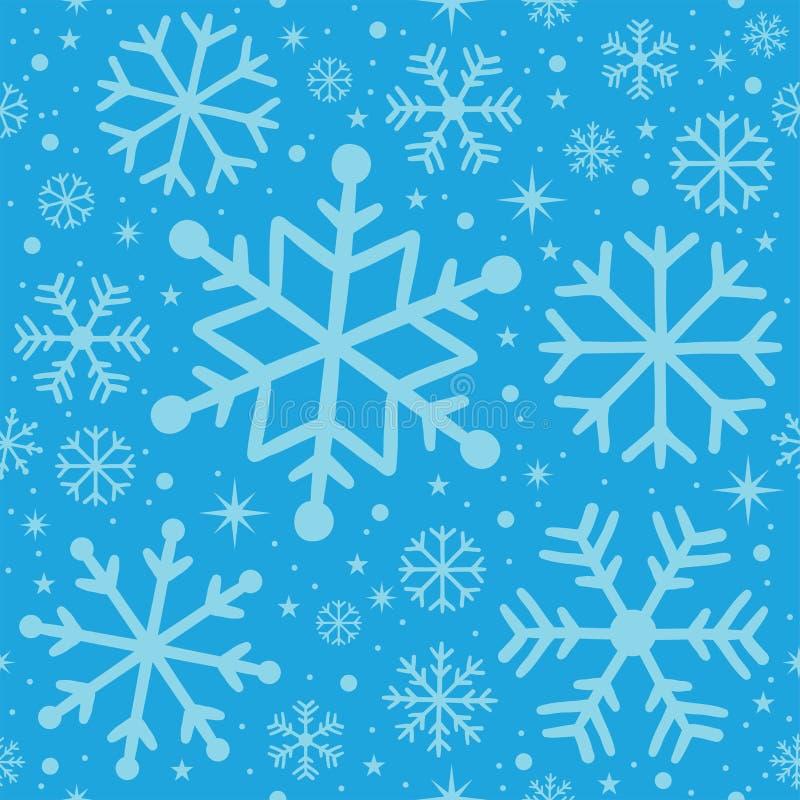 Sömlöst patern - ljust - blått för jul royaltyfri bild