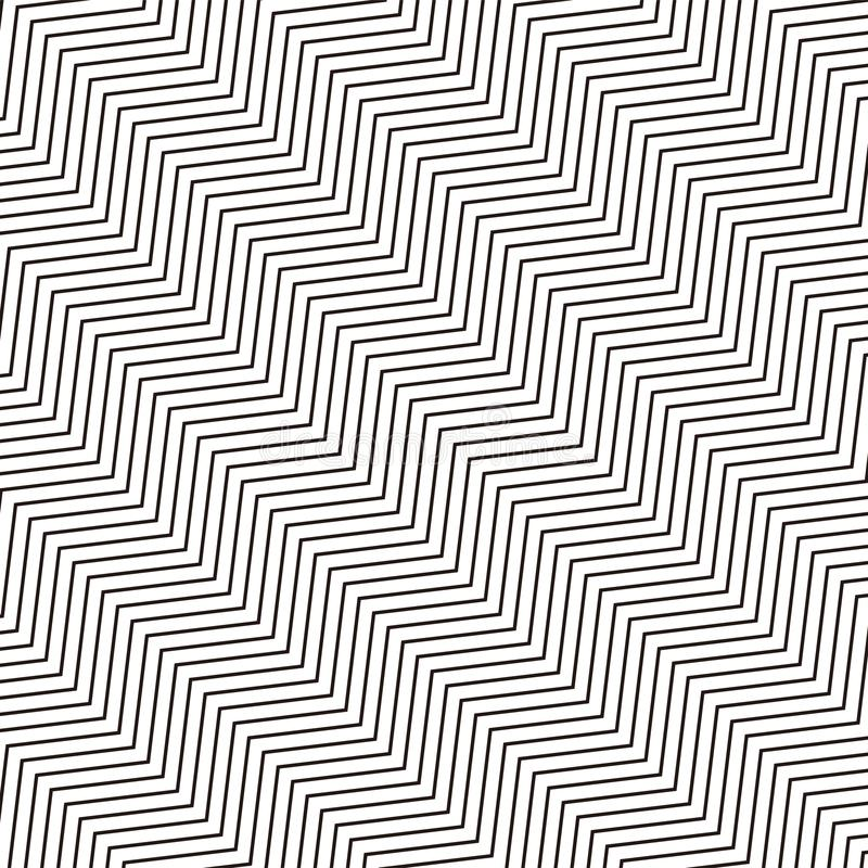 Sömlöst repeatable geometrisk monokrom modell med distorte royaltyfri illustrationer
