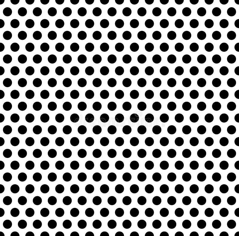 Sömlöst repeatable modell med prickar, cirklar Monokrom abs stock illustrationer
