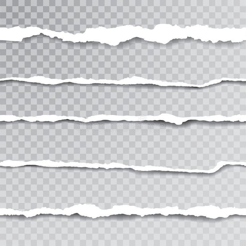 Sömlöst rivit sönder papper vektor illustrationer