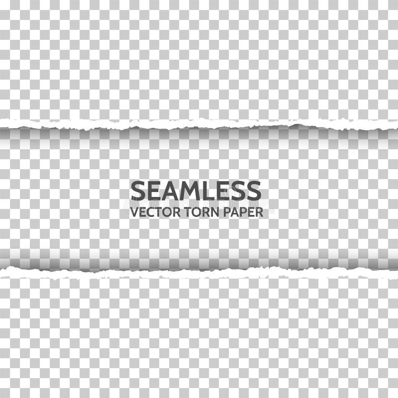 Sömlöst sönderrivet papper för vektor vektor illustrationer