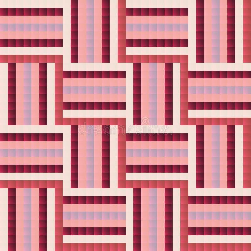 Sömlöst tegelplatta-som abstrakt geometrisk modelldesign royaltyfri illustrationer