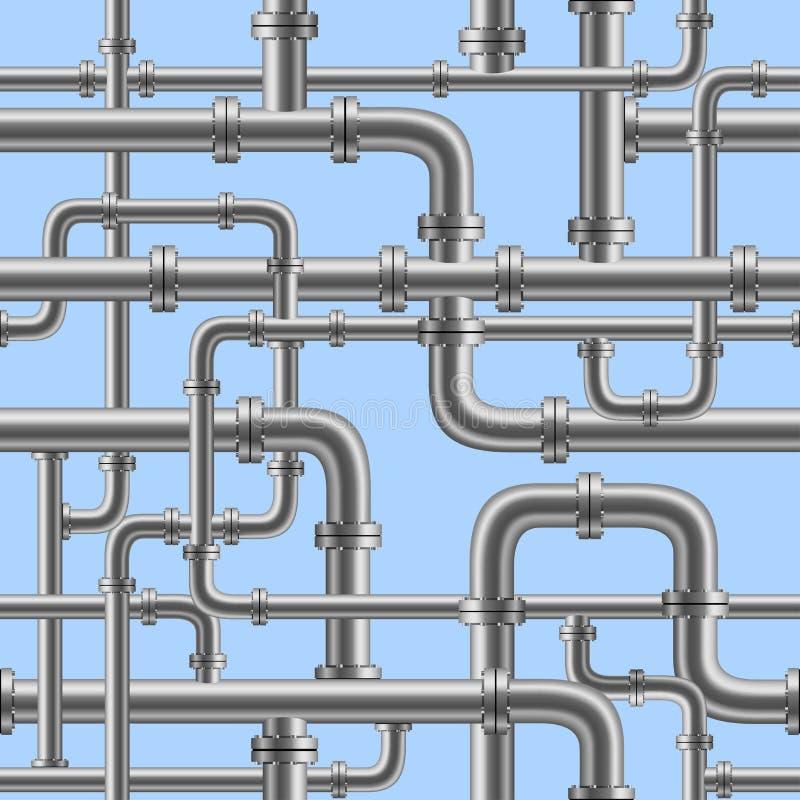 Sömlöst vattenrör vektor illustrationer