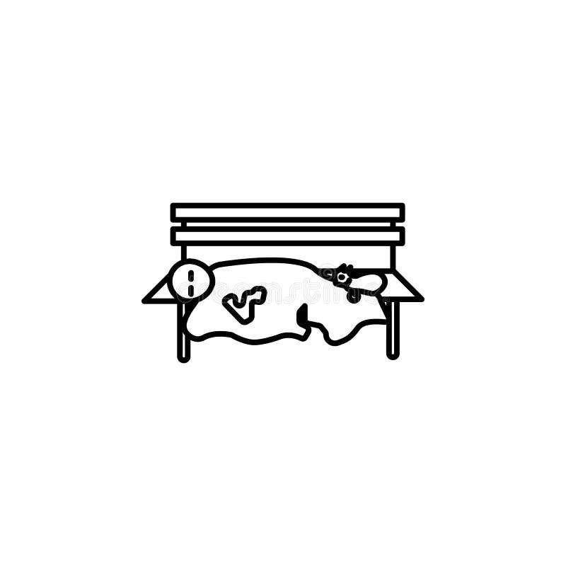 Sömn för fattig man parkerar symbolen Beståndsdel av symbolen för socialt liv för armod för mobila begrepps- och rengöringsdukapp vektor illustrationer