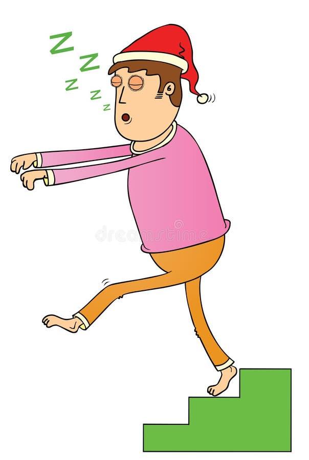 Sömn som går på trappan stock illustrationer