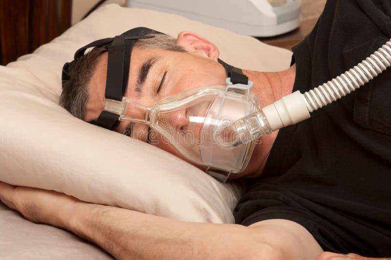 SömnApnea och CPAP arkivfoton