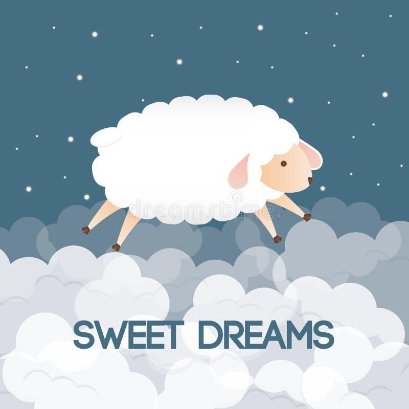 Sömndesign royaltyfri illustrationer