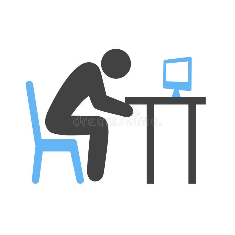 Sömnig arbetare vektor illustrationer