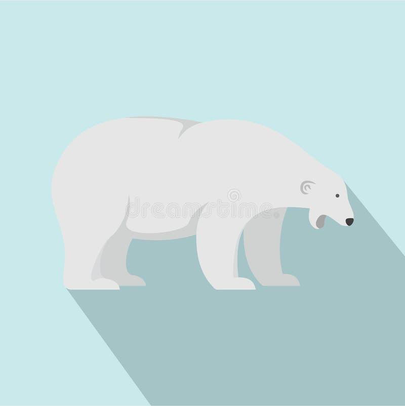 Sömnig isbjörnsymbol, lägenhetstil vektor illustrationer