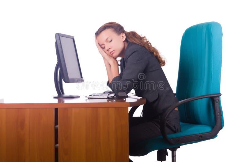 sömnig kvinna royaltyfria bilder