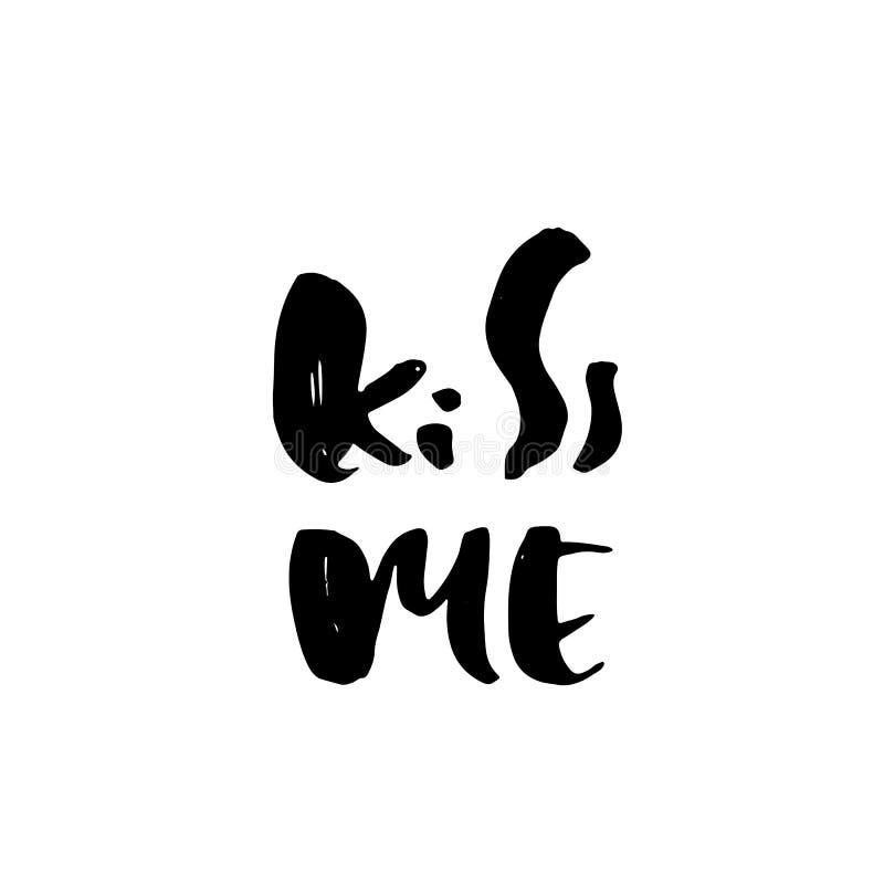 sömnig ponny Modernt torka borstebokstäver Romantisk typografiaffisch Kalligrafidesignmall också vektor för coreldrawillustration royaltyfri illustrationer