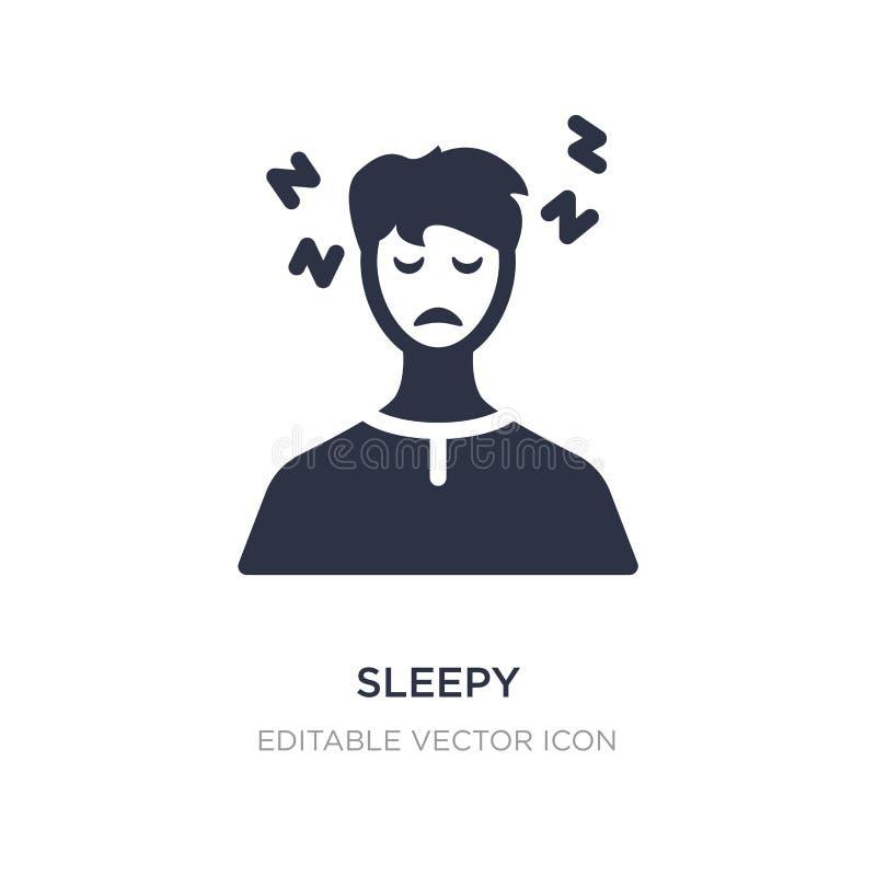 sömnig symbol på vit bakgrund Enkel beståndsdelillustration från annat begrepp stock illustrationer