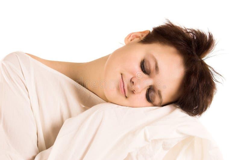 sömnkvinna royaltyfri fotografi