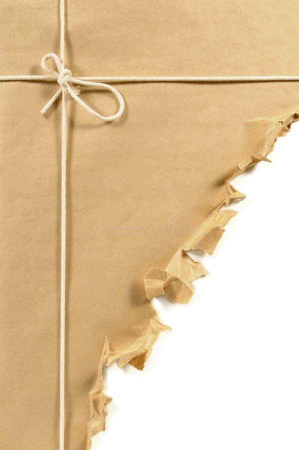 Sönderriven brun jordlott royaltyfri bild